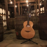 A completed Bushmills Lowden guitar at the Old Bushmills Distillery-1