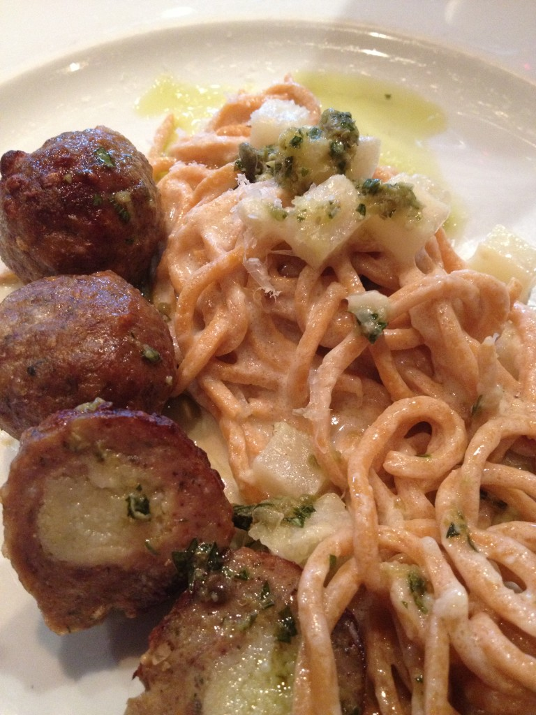 Homemade Pasta & Veal Meatballs