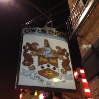 Owen & Engine Sign