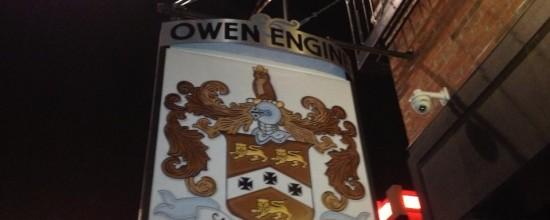 Owen & Engine Sign