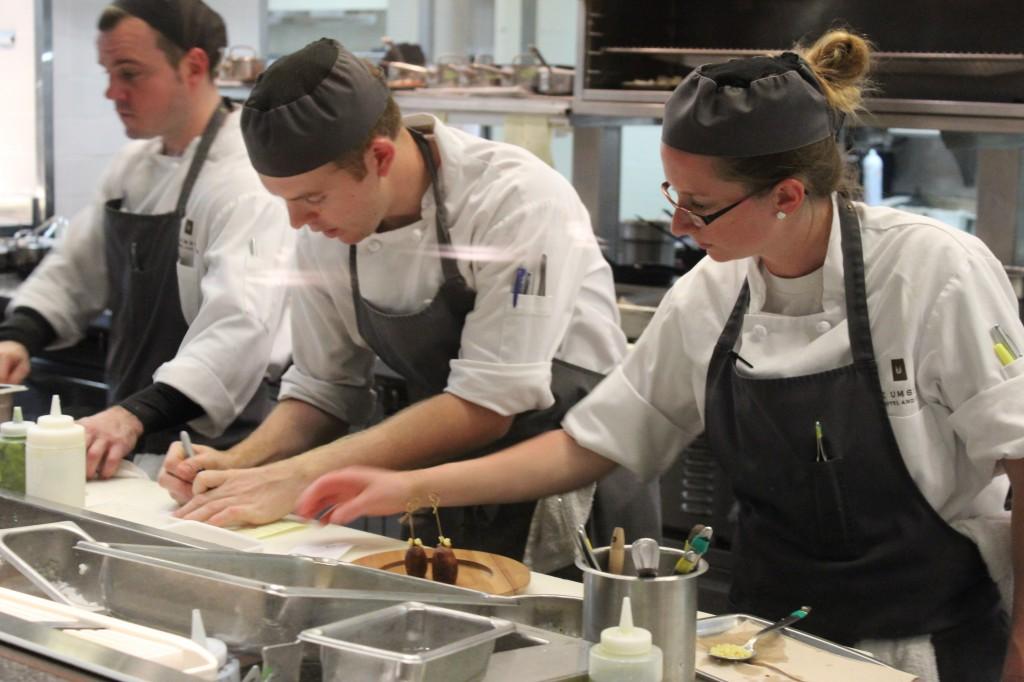 Heron's Kitchen Plating Gastronomical Gems Photo Credit: Chris J. Hamilton