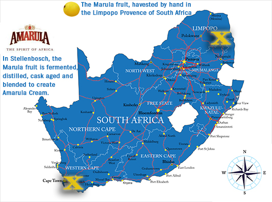 South Africa map